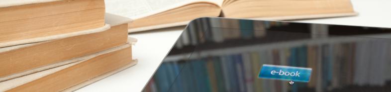 Immagine di libri e di un portatile
