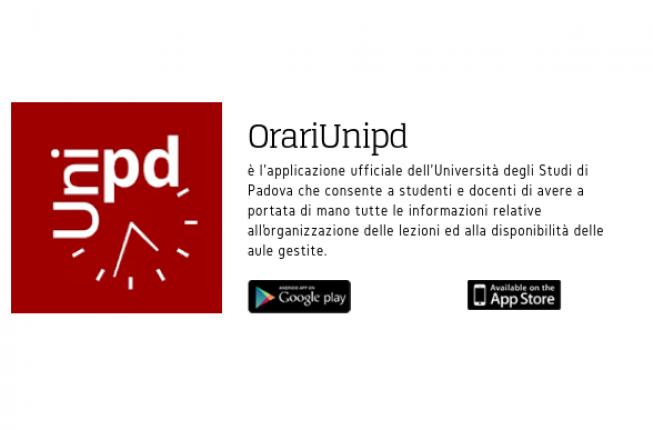 Collegamento a E' disponibile la nuova applicazione OrariUnipd